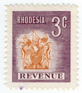 (I.B) Rhodesia Revenue: Duty Stamp 3c