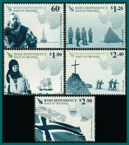 Ross Dependency 2011 Race to the Pole, MNH #L119-L123,SG126-SG130