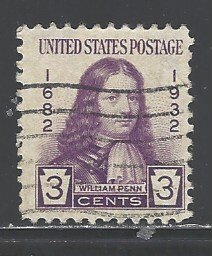 U. S.  Sc # 724 used (RRS)