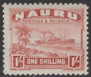 NAURU SG36B 1937 1/= BROWN-LAKE MTD MINT