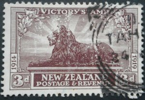 New Zealand 1920 Victory Three Pence SG 456 used