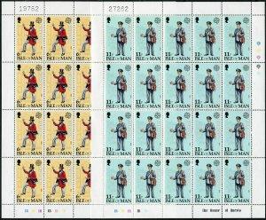 Isle of Man 152-153 sheets,MNH.Michel 142-143. EUROPE CEPT-1979.Mailman.