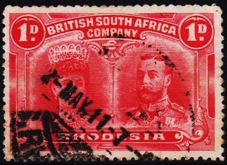Rhodesia. 1910 1d S.G.123 Fine Used