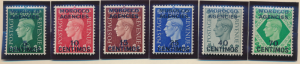 Great Britain, Offices In Morocco Stamps Scott #83 To 88, Mint Hinged - Free ...