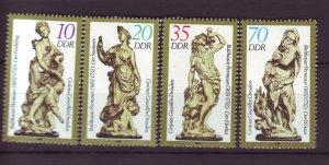 J25358 JLstamps 1984 germany DDR mnh set #2443-6 figurines