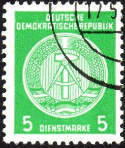 1954, Germany DDR, 5pfg, Used, Sc O18