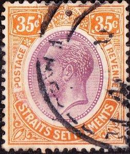 MALAYA STRAITS SETTLEMENTS 1922KGV 35c Dull Purple and Orange-Yellow SG236