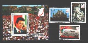 North Korea. 1986. 2761-63, bl219. Press, newspaper Burlinguer Communist. USED.