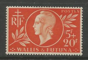 WALLIS & FUTUNA  B9  MINT HINGED,  COMMON DESIGN,  SURTAX FOR FRENCH RED CROSS