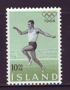 Iceland Sc 369 1964 Tokyo Olympics stamp mint NH
