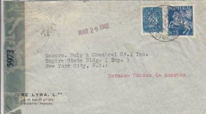 1945, Porto, Portugal to New York City, NY, Censored, See Remark (C3095)