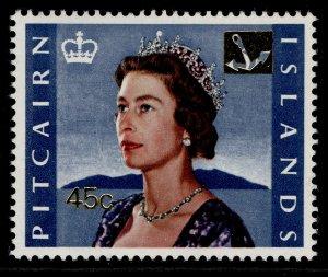 PITCAIRN ISLANDS QEII SG81, 1967 45c on 8s, NH MINT.