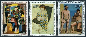 Mali C46-C48,MNH.Michel 146-148. Paintings by Picasso,1967.