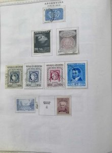 A) 1955-56, ARGENTINA, CONFRATERNIZATION OF THE ARMED FORCES, LOT OF 9 STAMPS, F
