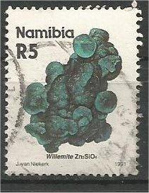 NAMIBIA, 1991, used 5r, Minerals. Scott 689
