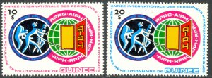 GUINEA 1983 International Year of the Handicapped Set Sc 850-851 MNH