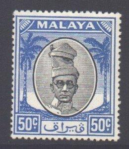 Malaya Perak Scott 116 - SG145, 1950 Sultan 50c MH*