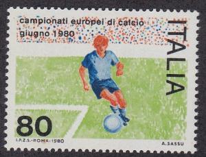 Italy # 1401, European Soccer Championships, NH, 1/2 Cat.
