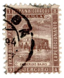 (I.B-CK) Spain Colonial Postal : Melilla Military Post (Fort Carrerizas Bajas)