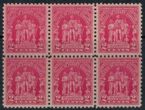 U.S. #680* NH Block of 6  CV $6.60