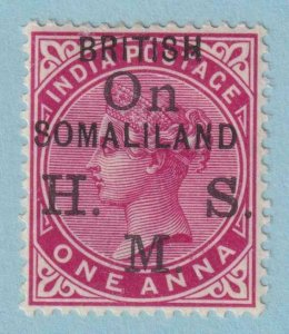 SOMALILAND PROTECTORATE O2 OFFICIAL MINT LIGHT HINGED OG * NO FAULTS VERY FINE!