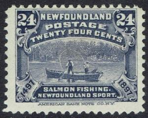 NEWFOUNDLAND 1897 400TH ANNIVERSARY 24C SALMON FISHING
