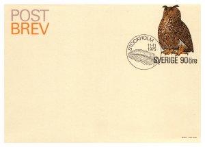 Sweden, Postal Stationary, Birds
