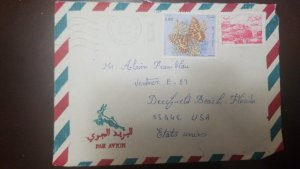 O) 1991 ALGERIA, BUTTERFLY ZERYNTHIA, VIEW CONSTANTINE SC 734 - LANDSCAPE, AIRMA