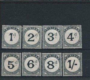 TRINIDAD & TOBAGO POSTAGE DUE 1905-06 SET MM (SOME APPEAR MNH) SG D10/D17