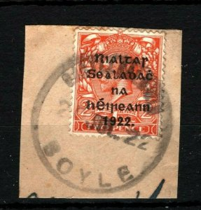 IRELAND 1922 Free State Overprints EIRE Boyle Roscommon Sub-Office Rubber MS2262
