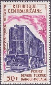 Central African Republic # C15 mnh ~ 50fr Locomotive