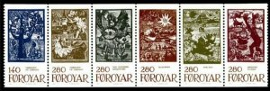 Faroe Islands 1984 #115-20 MNH. Illustrations, booklet pane