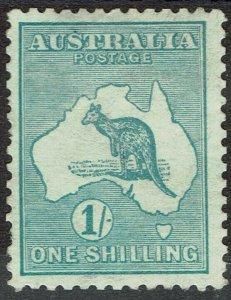 AUSTRALIA 1913 KANGAROO 1/- 1ST WMK