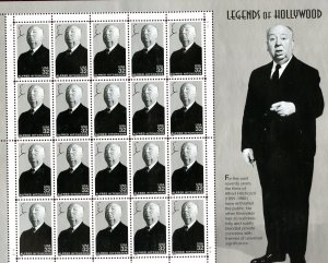 SCOTT 3226 - LEGENDS OF HOLLYWOOD - ALFRED HITCHCOCK - (20) BLACK & WHITE SHEET