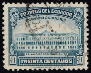 Ecuador #439 Government Palace; Used (3Stars)