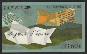 France 1993 33.60F Greetings Booklet Sc# 2394a NH