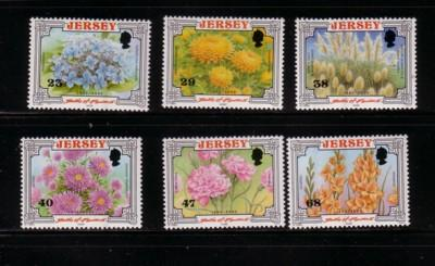 Jersey  Sc 1042-7 2002 Battle of Flowers stamp set mint NH