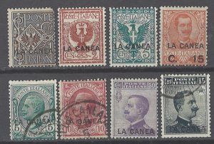 COLLECTION LOT # 2111 ITALY OFFICES IN CRETE 8 STAMPS 1906+ CV+$25