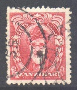 Zanzibar Scott 233 - SG342, 1952 Sultan 20c used