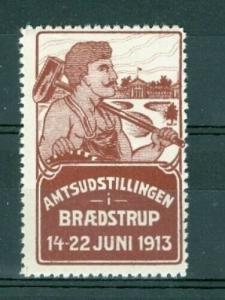 Denmark. Poster Stamp Mnh. 1913 Country Exhibition. Braedstrup