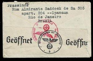 Brazil 1941, Mi.#572X cover via Condor-Lati to Germany, censored
