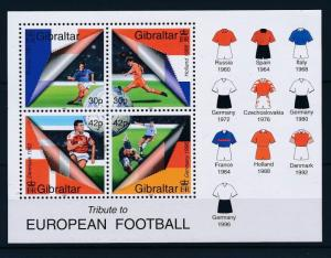 [43087] Gibraltar 2000 Sports European Cup Soccer Football England MNH Sheet