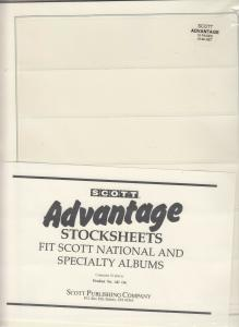Scott Advantage Stocksheets National & Specialty Albums Pack of 10 Has 6 Pockets