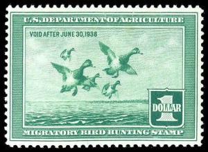 U.S. REV. DUCKS RW4  Mint (ID # 84995)
