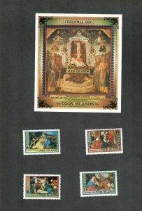 Cook Islands Sc#1042-1046 M/NH/VF, Cv. $25.40