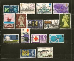 Great Britain Lot of 15 Different Older Stamps Used