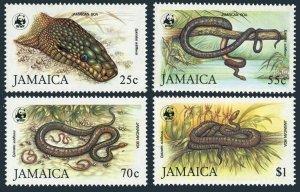 Jamaica 591-594,MNH.Michel 591-594. WWF 1984.Jamaican boas.