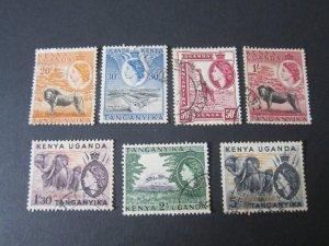 Kenya Uganda Tanganyika 1954 Sc 107,8,10,112-5 FU
