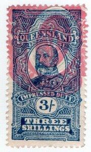 (I.B) Australia - Queensland Revenue : Impressed Duty 3/-