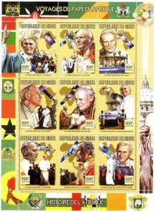 Niger 1998 Pope John Paul II Africa Sheet Perforated mnh.vf
